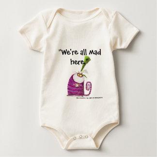 Body Para Bebê Nós somos tudo loucos aqui