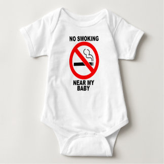 Body Para Bebê NoSmoking perto de meu terno do corpo do bebê