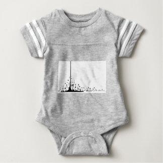 Body Para Bebê Notas musicais de derramamento