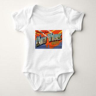 Body Para Bebê Nova Iorque do vintage