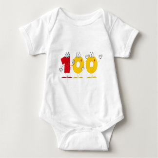 Body Para Bebê Número feliz 100