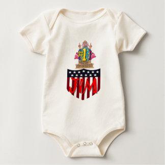 Body Para Bebê Número um jim