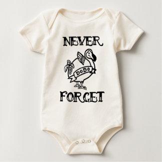 Body Para Bebê Nunca esqueça o Dodo
