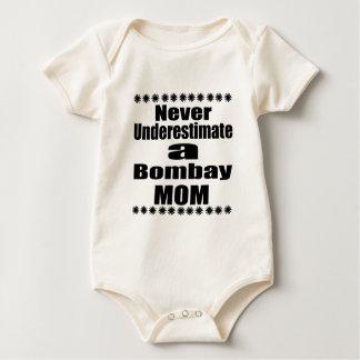 Body Para Bebê Nunca subestime a mamã de Bombaim