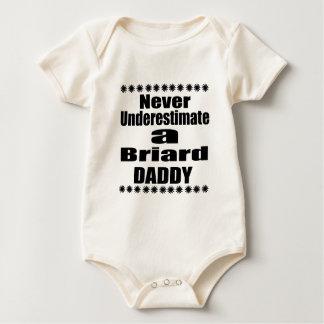 Body Para Bebê Nunca subestime o pai de Briard