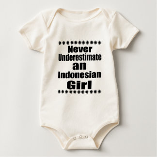 Body Para Bebê Nunca subestime uma menina indonésia