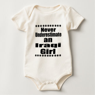Body Para Bebê Nunca subestime uma menina iraquiana