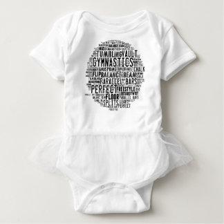 Body Para Bebê Nuvem da palavra da ginástica que cai
