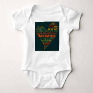 Body Para Bebê Nuvem da palavra do orgulho e do preconceito