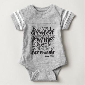 Body Para Bebê O 139:13 do salmo para você criou meu ser inmost