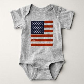 """Body Para Bebê o 4o da bandeira americana de julho """"seja"""""""