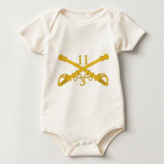 Body Para Bebê ó Agrupa-se o 11o regimento de cavalaria