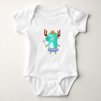 Body Para Bebê O alce com partido atribui Funky estilizado