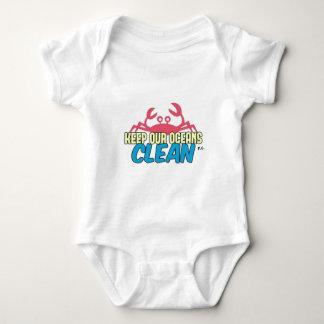 Body Para Bebê O ambiente mantem nosso slogan limpo dos oceanos