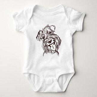 Body Para Bebê O amor do Schnauzer de minha vida