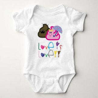 Body Para Bebê O amor é t-shirt do amor: Poo & casal Loving do