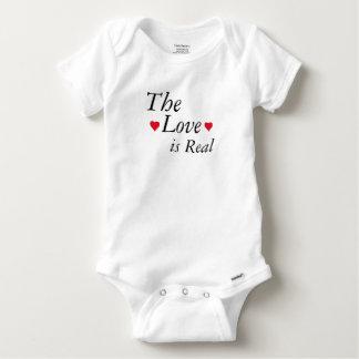 Body Para Bebê o amor é terno real do corpo do bebê