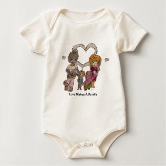 Body Para Bebê O amor faz uma família por Ainsley