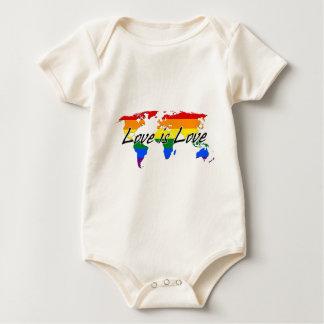 Body Para Bebê O amor mundial do orgulho gay é amor