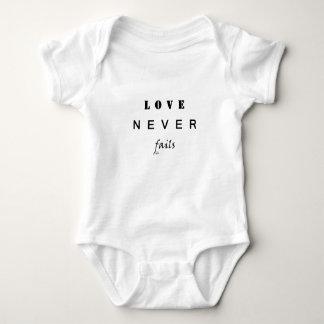 Body Para Bebê O amor nunca falha
