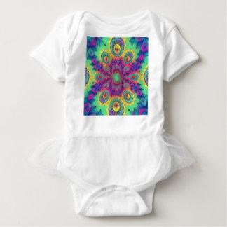 Body Para Bebê O amor psicadélico da Multi-Cor é teste padrão