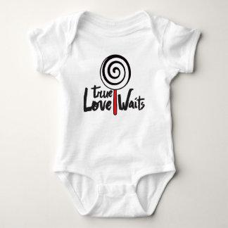Body Para Bebê O amor verdadeiro espera a ligação em ponte de
