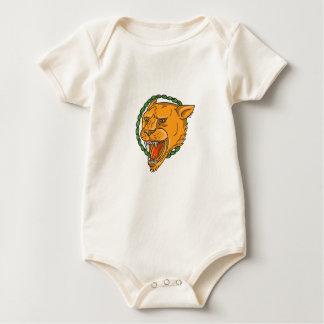 Body Para Bebê O anel da rosnadura da leoa sae do tatuagem