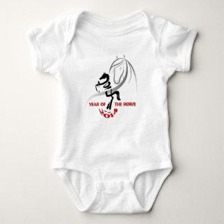 Body Para Bebê O ano de pouca esteira rolante do cavalo