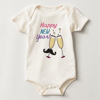 Body Para Bebê O ano novo do bigode