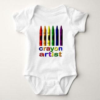 Body Para Bebê O artista do pastel desenha o Creeper infantil