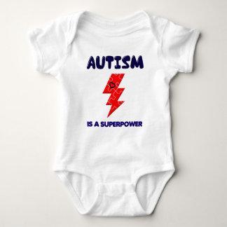 Body Para Bebê O autismo é superpotência, mente mental da saúde