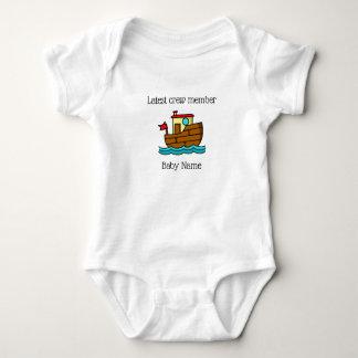 Body Para Bebê O barco o mais atrasado do reboque do membro de