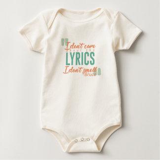 Body Para Bebê O bastão de Bels de tinir cheira a canção de natal