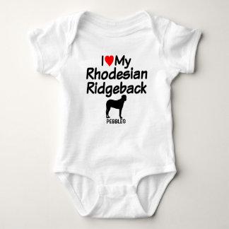 Body Para Bebê O bebê ama o cão de Rhodesian Ridgeback
