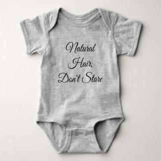Body Para Bebê O bebê, cabelo natural não olha fixamente