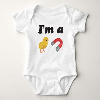 Body Para Bebê O bebê da páscoa cresce o terno que eu sou um ímã