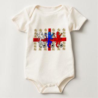 Body Para Bebê O bebê de Inglaterra de três fan de futebol dos
