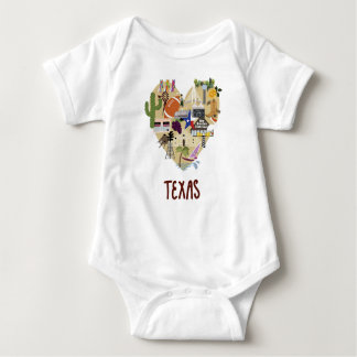 Body Para Bebê O bebê de Texas uma parte