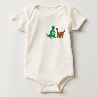 Body Para Bebê O bebê do dinossauro cresce
