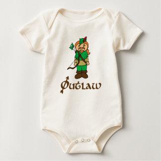 Body Para Bebê O bebê foragido do tiro ao arco de Robin Hood