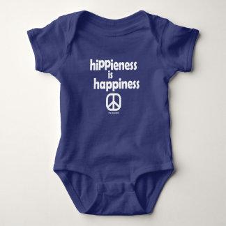 """Body Para Bebê O bebê """"Hippieness do hippy é felicidade """""""