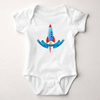 Body Para Bebê O bebê nomeia a bandeira e o Rocket