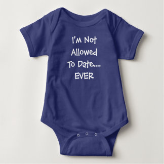Body Para Bebê O Bodysuit da criança do bebê não é permitido eu