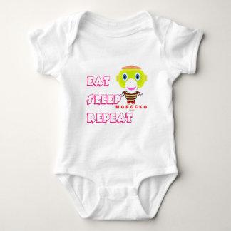 Body Para Bebê O Bodysuit do bebê    come a repetição do sono por