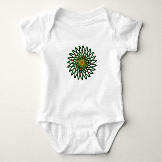 Body Para Bebê O Bodysuit do jérsei do bebê da flor do rubi
