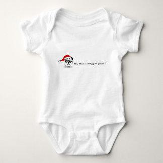 Body Para Bebê O bodysuit do papai noel da panda com Natal deseja