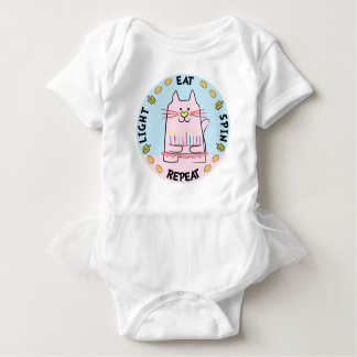 "Body Para Bebê O Bodysuit ""luz do tutu, come, gira, repete """