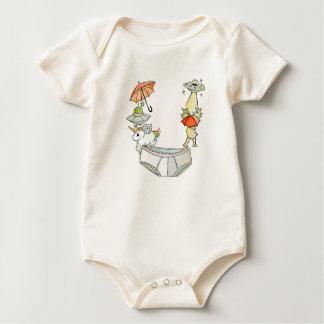 Body Para Bebê O Bodysuit orgânico da letra U