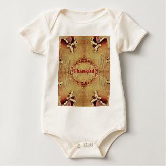 """Body Para Bebê O bolsa """"grato"""" sazonal do design da queda"""