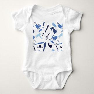 Body Para Bebê O cabeleireiro utiliza ferramentas o teste padrão